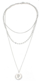 Ketting stainless steel zilver queen little