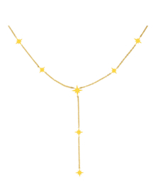 Ketting stainless steel goud northern star