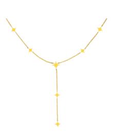 Ketting stainless steel goud northern star