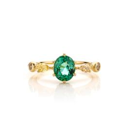 Rokoko ring Take a fresh green tourmaline