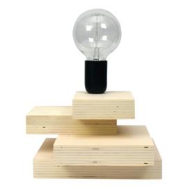 Tafellamp met zwarte metalen fitting