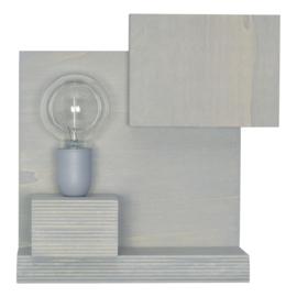 Wandlamp met grijs metalen fitting