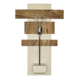 Wandlamp met chromen pendelstang