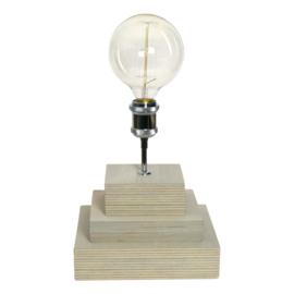 Tafellamp met pendelstang en chromen retro fitting