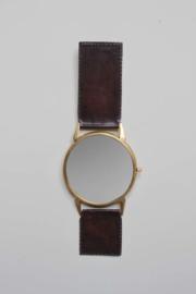 """Spiegel """"leren horloge"""""""