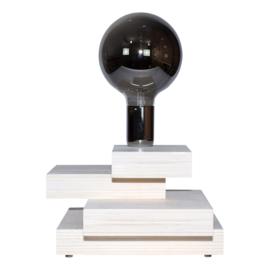 Tafellamp met chromen fitting
