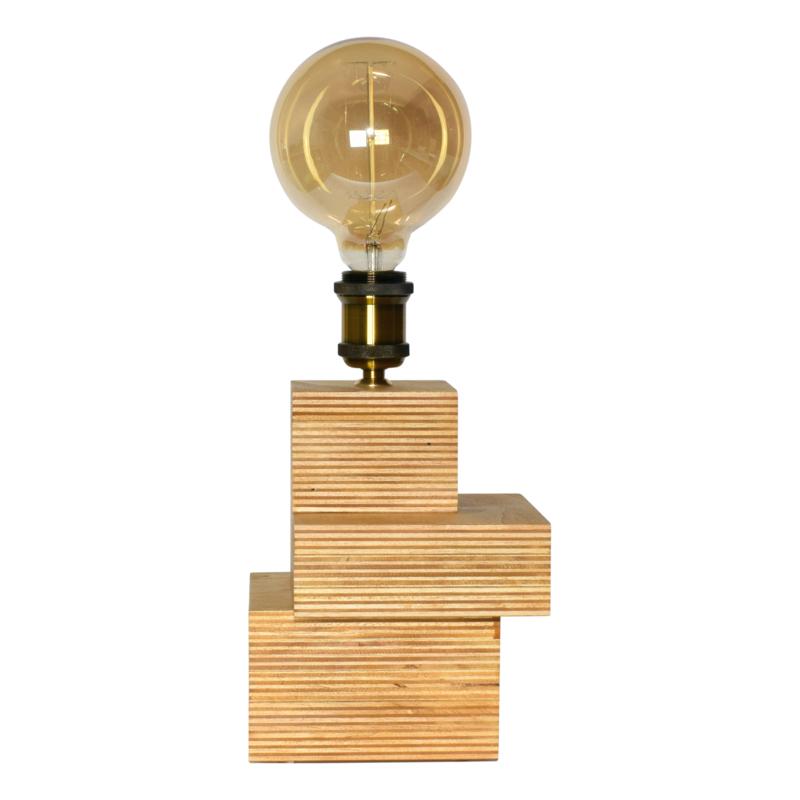 Tafellamp met bronzen retro fitting