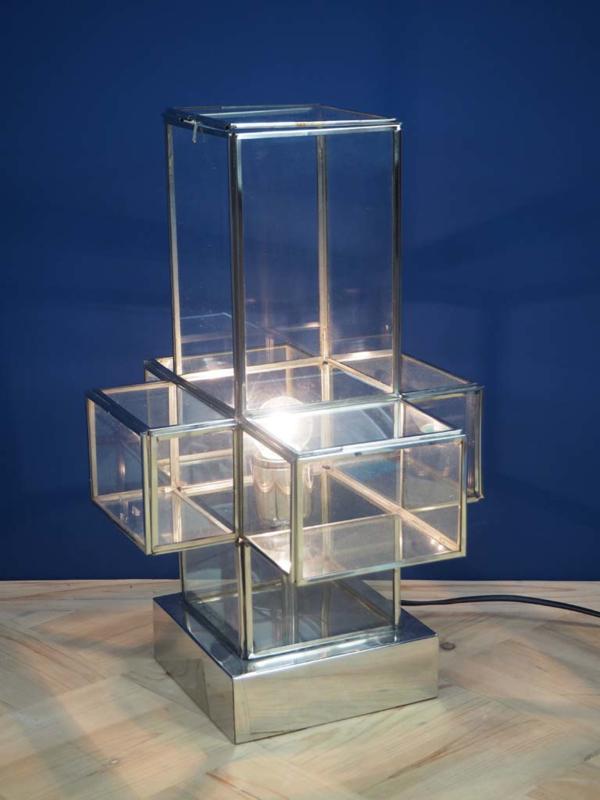 Tafellamp van glas