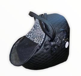 Car Igloo Black Leopard Grey bow