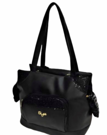 Eh Gia Glamorous Bag Black stripe fur