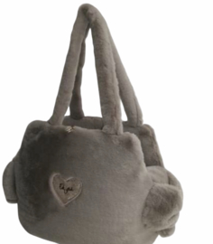 Eh gia Sofficiosa eco fur bag taupe 2