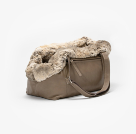 Dog Carrier Aloké Taupe