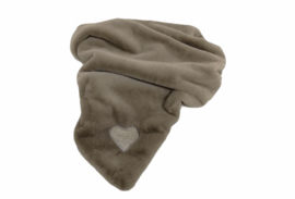 Eh Gia My Hearts blanket Taupe