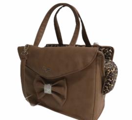 Eh Gia Passenger Bag camel leopard