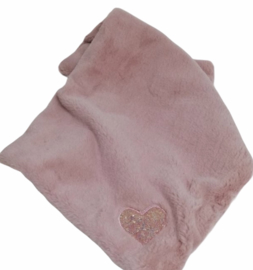 Eh Gia My Hearts blanket Pink