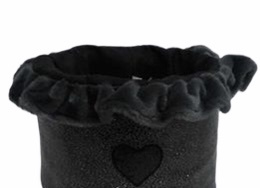Eh Gia Toy Box Hearts Black+Grey