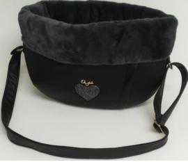 Walking Bag Winter Black Dark Grey