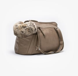 Dog Carrier Aloké Zipp It Taupe 2020