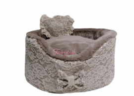 Eh Gia Round bed Taupe Lace mt 2