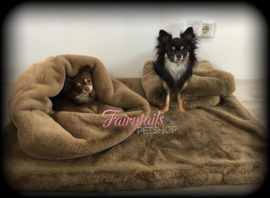 Teddy en Balou op hun prachtige set van Doggieyou in de kleur Taupe!