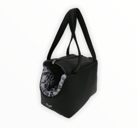 Eh Gia Be Bag Black Leopard Grey
