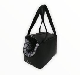 Eh Gia Be Bag Black Leopard Grey