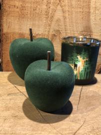 Appel groen velours 7 x 6 cm