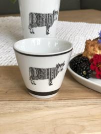 """Espresso kopjes Koeien (set van 4) """"Oh la Vache"""""""