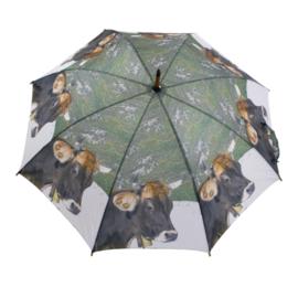 """Paraplu """"Alpenkoe"""" in de bergen"""
