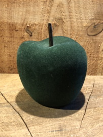 Appel groen velours 10 x 8 cm