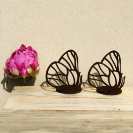 Vlinder waxinelichthouder, 10 x 6 cm. Ecoroest | Decoroest