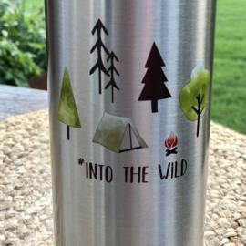 """Isoleer fles 750 ml """"Into the Wild"""" (warm/koud)"""