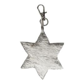 Sleutelhanger ster, grijze vacht