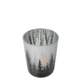 Waxinelichthouder dennenbos 8 x 7 cm
