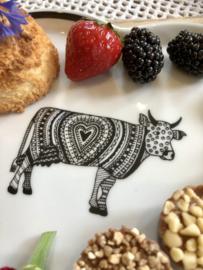 """Hartvormige schaal 22 x 19 cm Koeien """"Oh la Vache"""""""