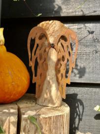 Engelen vleugels, 11 x 16 cm. Roest Metaal