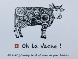 """Theedoek Koeien rood """"Oh la Vache"""""""