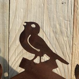 """Koekoeksklok """"vogeltjes"""", 24 x 46 cm. Ecoroest   Decoroest"""