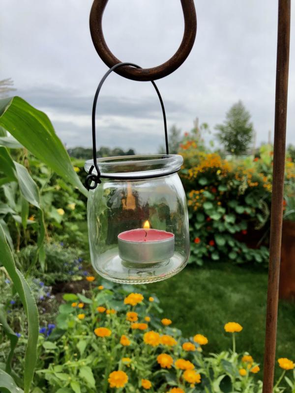 Windlicht hanger, 8 x 7 cm. Glas