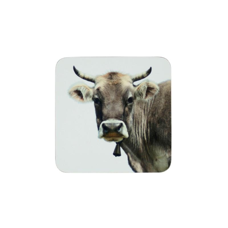 "Onderzetter ""Alpen koe""  (6 stuks per set)"