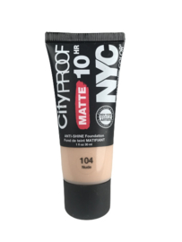 NYC City Proof Matte Foundation 104 Nude