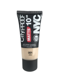 NYC City Proof Matte Foundation 001 Ivory
