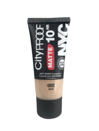 NYC City Proof Matte Foundation 002 Sand