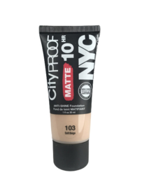 NYC City Proof Matte Foundation 103 Soft Beige