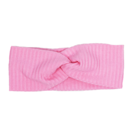 Haarband Twist   Rib Bubblegum   Handmade
