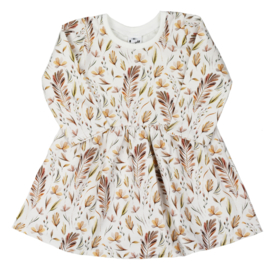 Long Sleeve Dress | Leaves | Handmade
