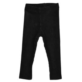 Legging   Rib Black   Handmade
