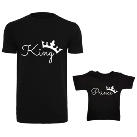 Twinning set - herenshirt & baby shirt - King - Prince