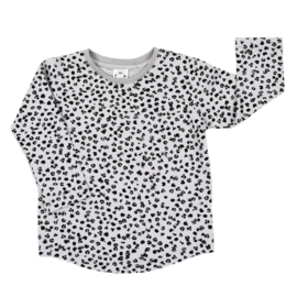 Longsleeve | Leopard Grey | Handmade