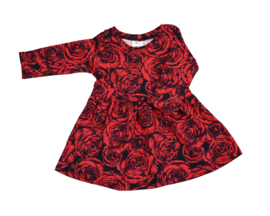 Long Sleeve Dress | Roses | Handmade